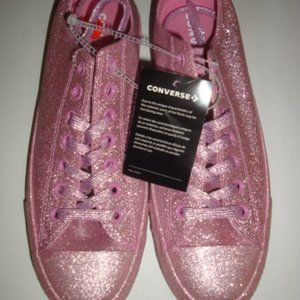 Converse Chuck Taylor Pink Glitter Shoes M 9 W 11